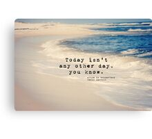 Lewis Carroll Today Canvas Print