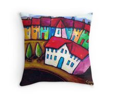 AVENUE  IN  PARIS Throw Pillow