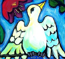 BIRD  OF  PERSEPHONE  1 by ART PRINTS ONLINE         by artist SARA  CATENA