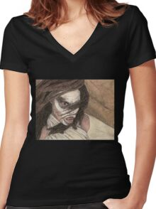 Restless - First Slayer - BtVS Women's Fitted V-Neck T-Shirt