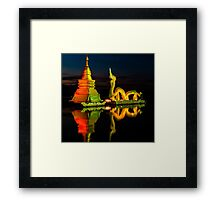 Dragon and Temple Framed Print