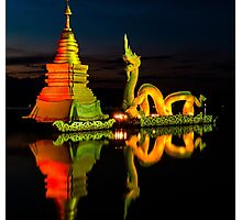 Dragon and Temple Photographic Print