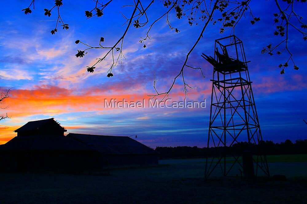 Dawn at the Farm by Michael McCasland