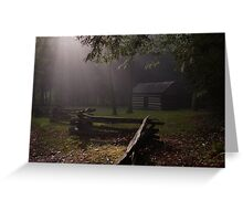 light on the fence Greeting Card