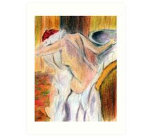 after degas, woman drying herself2 Art Print