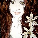 Hippy Chick - Etching by Belinda &quot;BillyLee&quot; NYE (Printmaker)