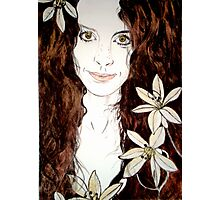 Hippy Chick - Etching Photographic Print