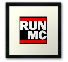 RUN MC - Alternative version for sticker. Framed Print