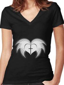 Goth faith ? (2) Women's Fitted V-Neck T-Shirt