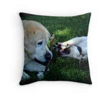 Youthful Play Throw Pillow