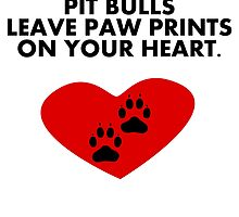 Pit Bulls Leave Paw Prints On Your Heart by kwg2200