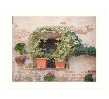 A Tuscan Window Art Print