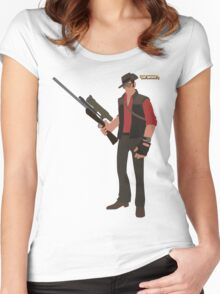 Team Fortress 2 | Minimalist Sniper Women's Fitted Scoop T-Shirt