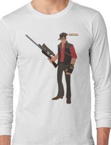 Team Fortress 2 | Minimalist Sniper Long Sleeve T-Shirt