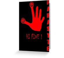 Parasyte - Hi Five! Greeting Card