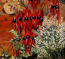 Sturt Desert Pea by Sue Hodge