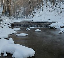 Rocky Run Creek - Winter by Jeff VanDyke