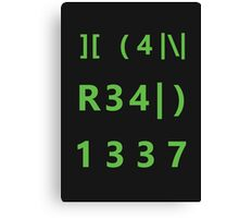 I can read 1337 Canvas Print