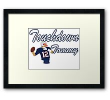 Touchdown Tommy Framed Print