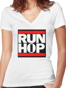 Run HIP HOP mashup - Alternative version Women's Fitted V-Neck T-Shirt