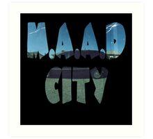 Kendrick Lamar m.A.A.d City Art Print