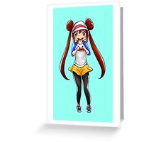 Chibi Rosa (Pokemon Black 2 and White 2) Greeting Card