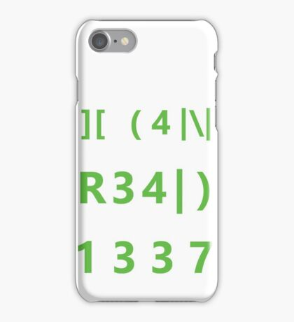I can read 1337 iPhone Case/Skin