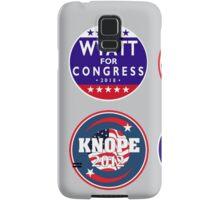 knope-wyatt campaign badges Samsung Galaxy Case/Skin