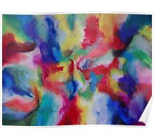 """Euphoria"" original abstract artwork by Laura Tozer Poster"