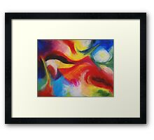 """Fiesta Nocturna"" original abstract landscape by Laura Tozer Framed Print"