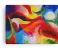 """""""Fiesta Nocturna"""" original abstract landscape by Laura Tozer Canvas Print"""