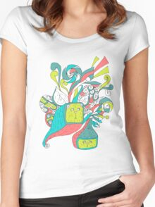 surreal boxcat Women's Fitted Scoop T-Shirt
