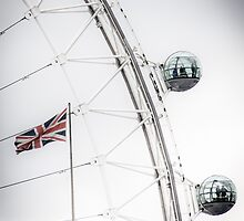 London Eye and Union Jack by ArnaldoTarsetti