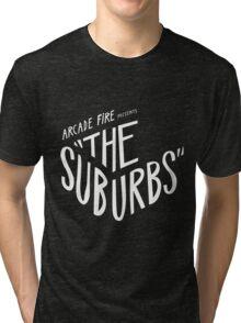 Arcade fire The Suburbs logo Tri-blend T-Shirt