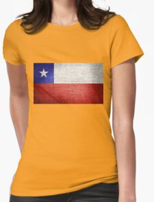 Chile Flag Womens Fitted T-Shirt