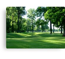 The GREEN Of The(golfing) Green Canvas Print