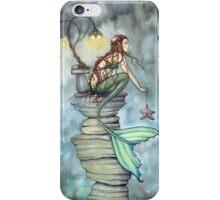 Mermaid's Perch Fantasy Mermaid Art by Molly Harrison iPhone Case/Skin