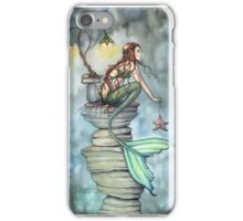Mermaid's Perch Fantasy Mermaid Art by Molly Harrison iPhone Case/Skin