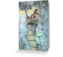 Mermaid's Perch Fantasy Mermaid Art by Molly Harrison Greeting Card