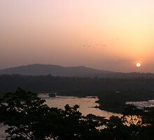 Sunset at Jinja by Rosie Appleton