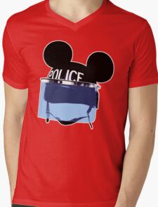 RIOT mickey (Are you a man or a mouse) Mens V-Neck T-Shirt
