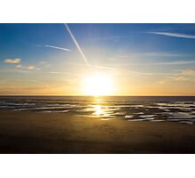 Sunset Blackpool Photographic Print