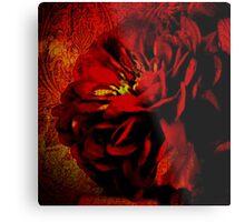 Scarlet Ribbon Metal Print