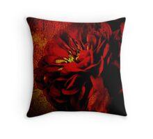 Scarlet Ribbon Throw Pillow