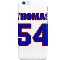 National football player Thomas Benson jersey 54 iPhone Case/Skin