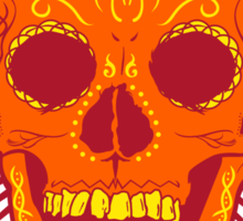 Calavera Skull - Orange Sticker