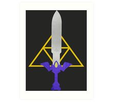 Master Sword and Triforce Art Print