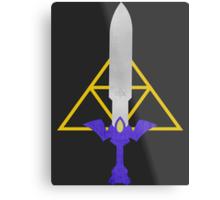 Master Sword and Triforce Metal Print