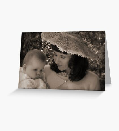 50's mother & child Greeting Card