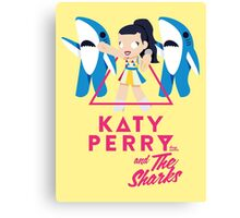 Katy Perry and The Sharks Canvas Print